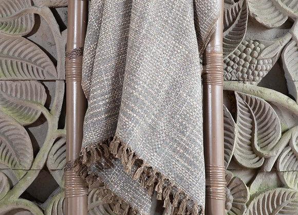 Cotton Blanket | Grey Brown
