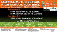 High School Football returns on Rainier Avenue Radio! Week of 3-1-21