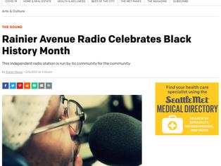 Seattle Metropolitan Magazine features Rainier Avenue Radio #BlackHistoryMonth 2021