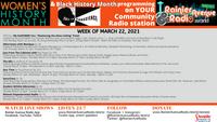 Women's History Month Programming week of 3/22/21