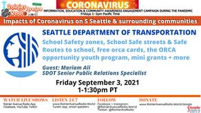 9-3-21 Hear about SDOT Programs on Impacts of Coronavirus LIVE