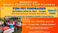 6-26-21 Fish Fry Fundraiser for GodIs.world