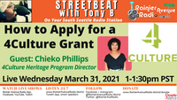 Everything You Need to Know to Apply for a 4Culture Grant 3/31/21