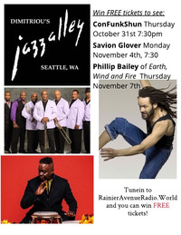 Win tickets to Jazz Alley: Con Funk Shun, Savion Glover, Phillip Bailey