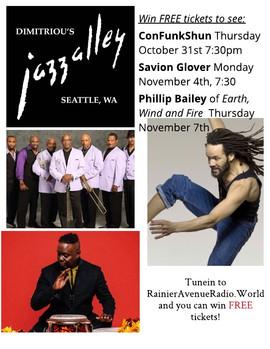 Win tickets to Jazz Alley: Con Funk Shun, Savion Glover, Phillip Bailey