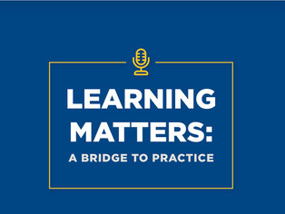 Station Manager Tony Benton on Learning Matters: a Bridge to Practice