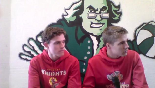 Thomas Kristen & Jason Lowe with Newport High School