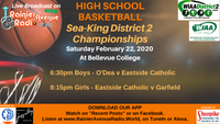 2-22-20 High School Basketball, Sea-King District 2 Championships
