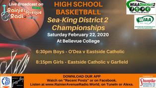 2-22-20 High School Basketball, Sea-King District 2 Championships
