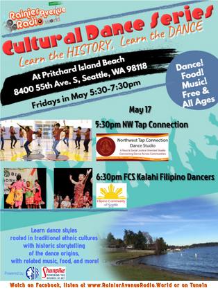 5-17-19 RAR.W Cultural Dance Series at Pritchard Beach: NW Tap Connection & FCS Kalahi Dancers