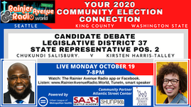 37th LD State Representative Pos 2 Debate Live on Rainier Avenue Radio! Oct 19 7-8pm