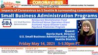5-14-21 Seattle Small Business Administration SBA Programs: Impacts of Coronavirus