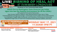 5-17-21 LIVE! WA State Governor Inslee signs Healthy Environment for All Act (HEAL) into law