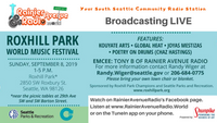 9-8-19 RAR Live from the Roxhill Park World Music Festival, 1-5pm