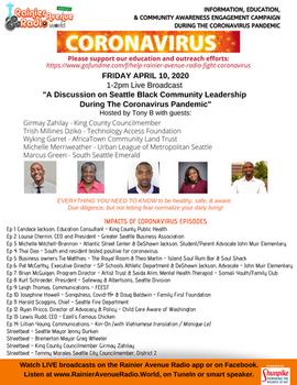 "Hear ""Black Leadership during the coronavirus pandemic"" broadcasts (4-10-20)"