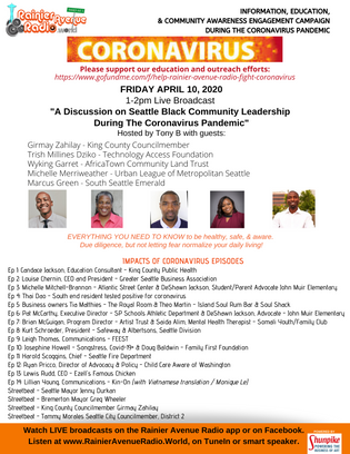 "Hear ""Black Leadership during the coronavirus pandemic"" broadcasts (4-10-20)"