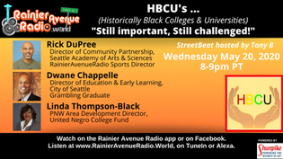 8pm Wednesday 5-20-20: HBCUs - Still Important, Still Challenged!