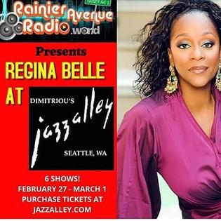 RainierAvenueRadio presents Regina Belle at Jazz Alley + contest winners, Regional basketball on Sat
