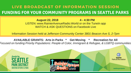 WATCH THE VIDEO: Broadcast of Info Session for Seattle Parks community programs grants