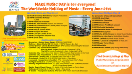 #MakeMusicDay on June 21st! Broadcasting across Seattle on RainierAvenueRadio