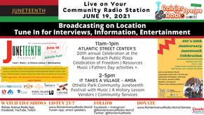 6-19-21 Juneteenth Celebrations Live on Rainier Avenue Radio