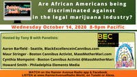 #Live 8pm Are African Americans being discriminated against in the legal marijuana industry?