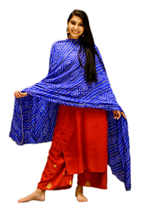 Women's Rajasthani Printed Cotton Dupatta