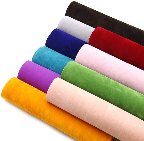 Soft Smooth Silky Velvet Unstitched Fabric Material Piece- 3 Meter Piece