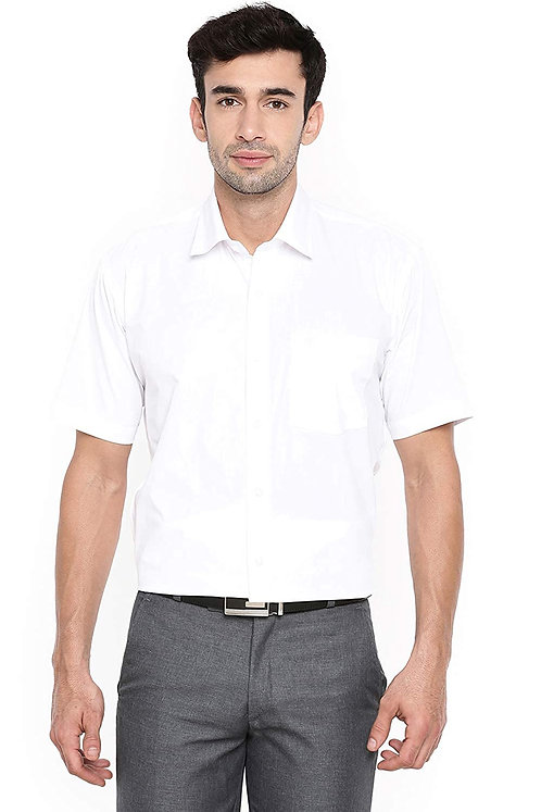 Men's Pure Cotton Half Sleeve Classic Collar Regular fit Shirt