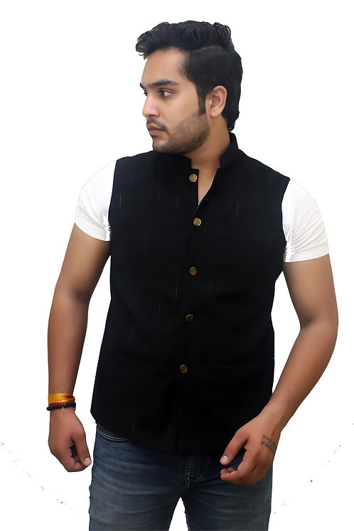 Men's Band Collar Slim Fit Modi/Nehru Jacket