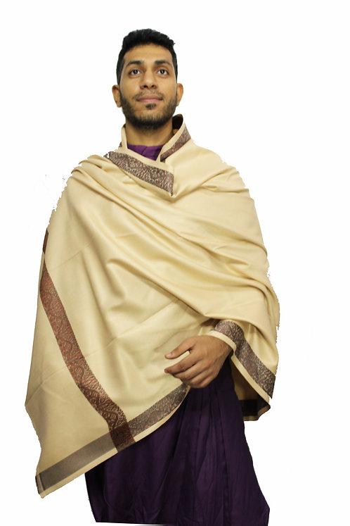 Woollen Warm Pashmina Shawls Premium Quality Lohi 7.4 X 3.6 Feet
