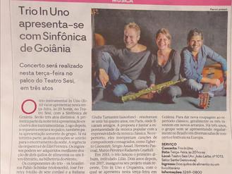 Trio In Uno apresenta-se com Sinfônica de Goiânia