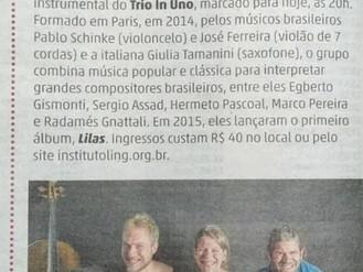 Música brasileira com toque parisiense