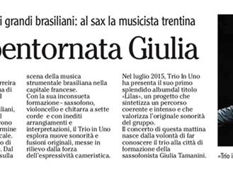 Trio In Uno, bentornata Giulia