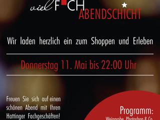 vielFACH-Abendschicht -  Donnerstag 11. Mai bis 22:00 Uhr
