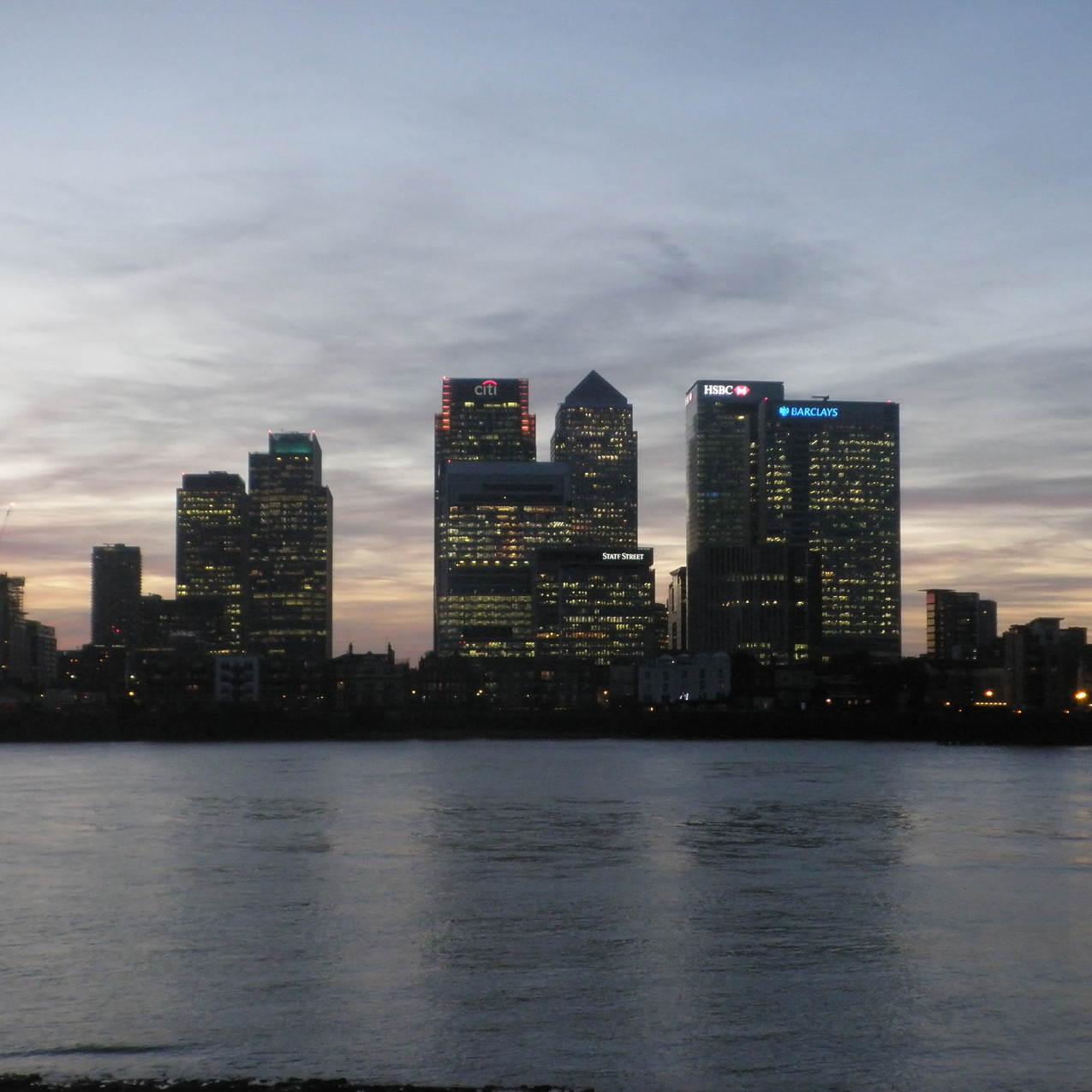 Overlooking Canary Wharf