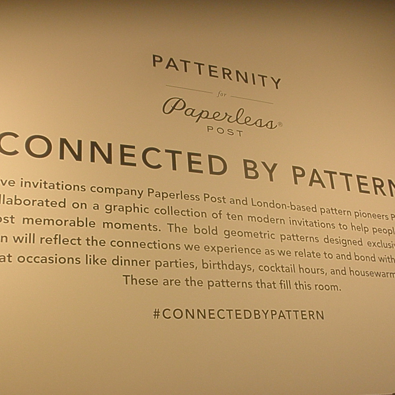 Connected by Pattern