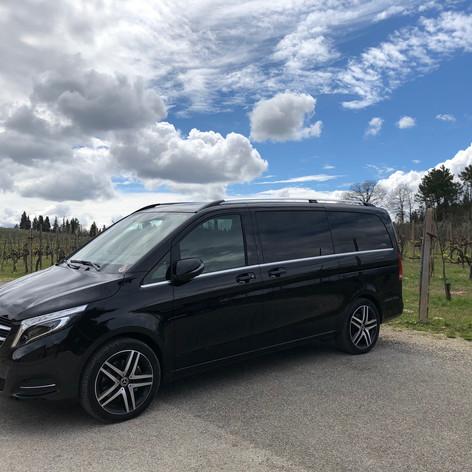 Mercedes minivan V class 7 pax + autista