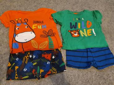 T-shirt & short PJs 9-12m