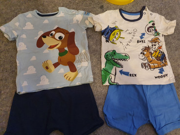 Toy story T-shirt & short sets 9-12m