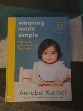 Weaning recipe book