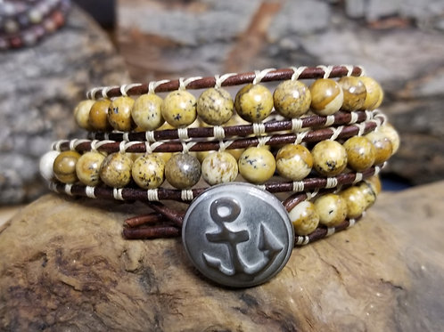 Picture Jasper With Anchor Button