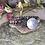 Thumbnail: Multi Stone Leather Wrap Bracelet
