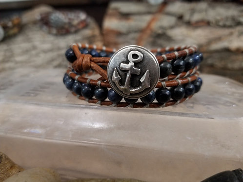 Dumortierite With Anchor Button