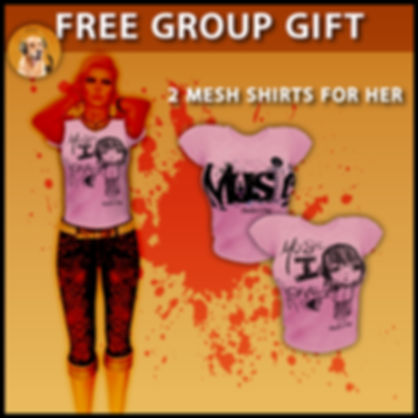 We have made (Me & My Man, who made those amazing pictures on the boxes!! ) those free group gifts for are dearest friends , in order to take them go here : http://maps.secondlife.com/secondlife/DeJu/39/31/21 & wear their group!!