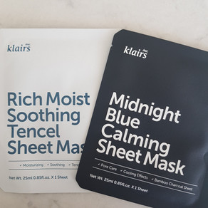 Review - Dear, Klairs sheet masks
