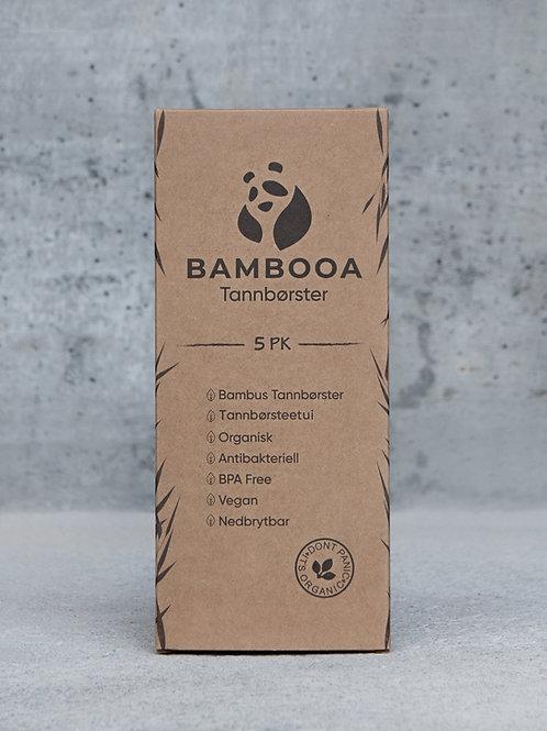 5 stk bambustannbørster