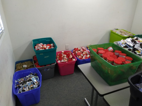Food ready to go into bags!
