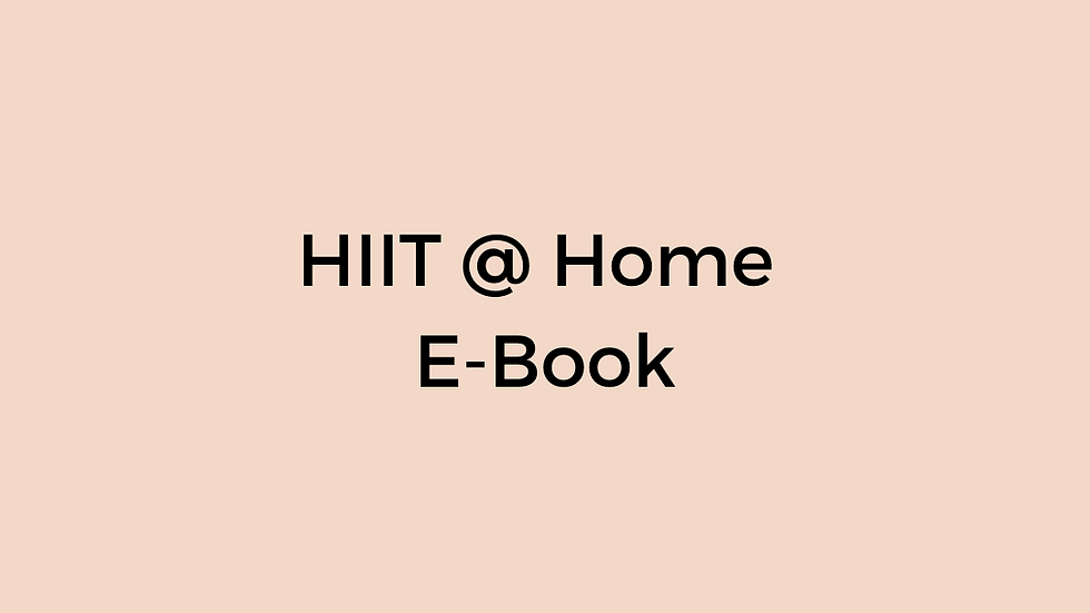 HIIT @ Home