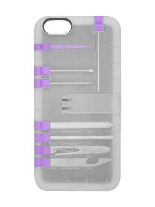 Multi-Tool Utility case - Clear case/Purple tools